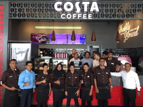 HMSHost - Maldives - Costa Coffee